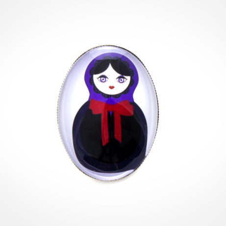 "Broche color plata ""Monstruoska vampira"""