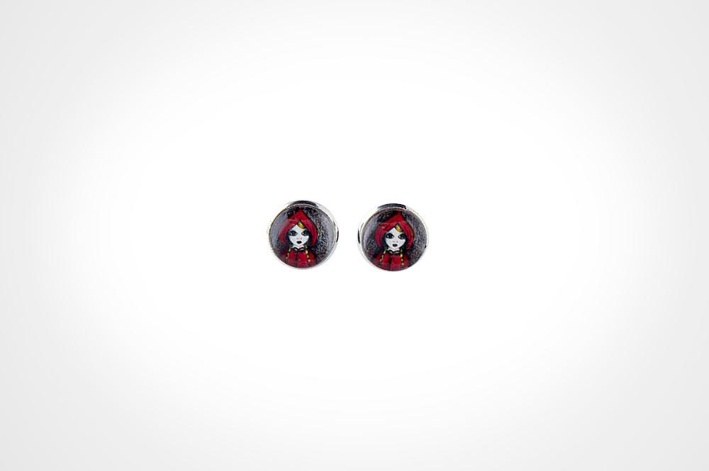 Pendientes Caperucita roja
