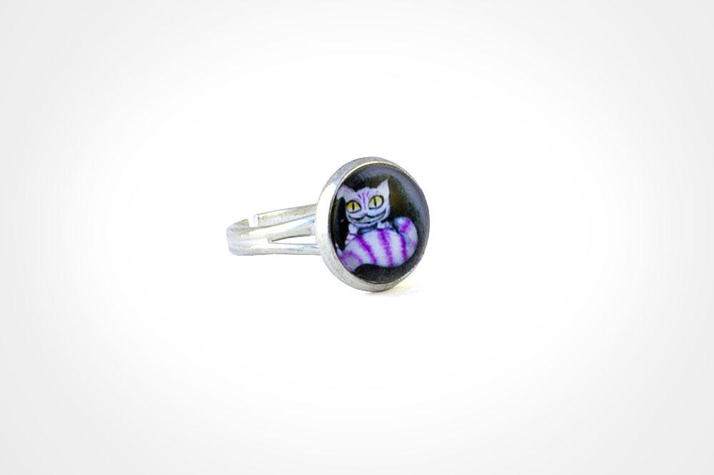 anillo cheshire plata