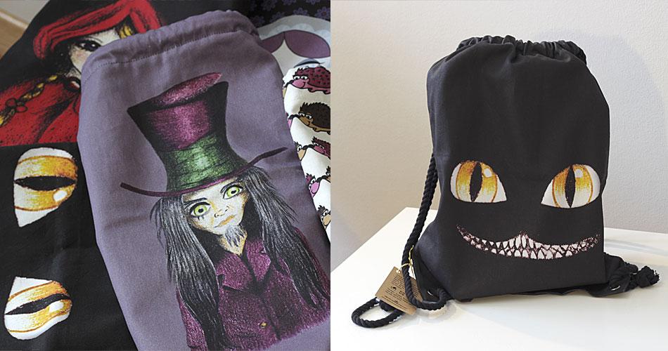 Bolchila Sombrerero Loco y ojos Cheshire
