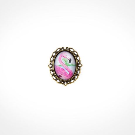 broche flamenco ondas