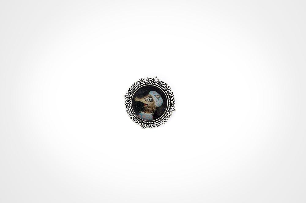 broche plata Abuelilobo