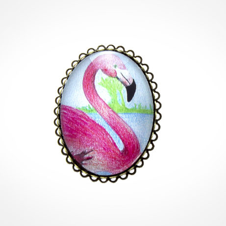 "Broche con ribete ""Flamenco"""