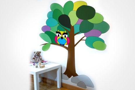 Vinilo infantil para decorar bosque
