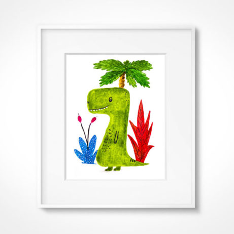 Lámina dinosaurio