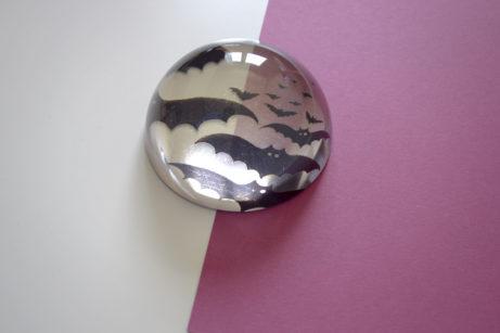 Pisapapeles murciélagos transparente