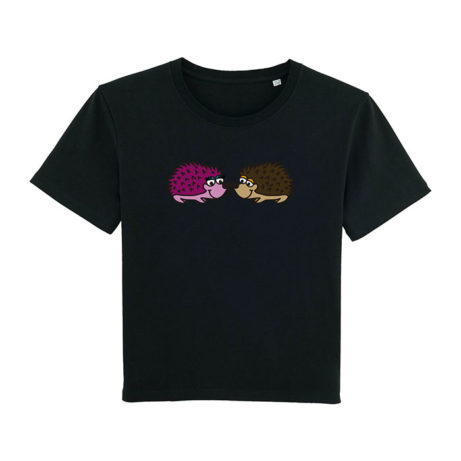 Camiseta chica erizos negra
