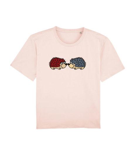 Camiseta chica erizos rosa