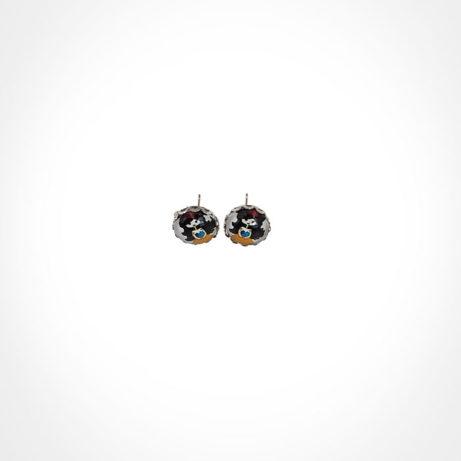 Pendientes botón pequeños con imagen de Blancanieves
