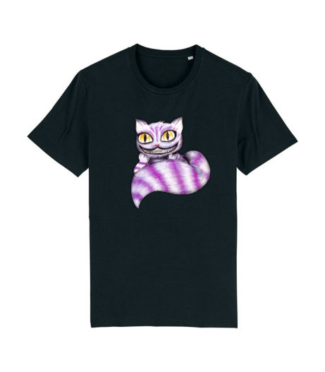 Camiseta Unisex Cheshire negra