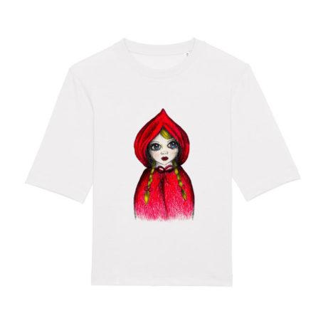 Camiseta chica Caperu blanca