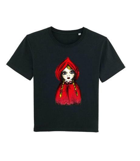 Camiseta chica Caperu negra
