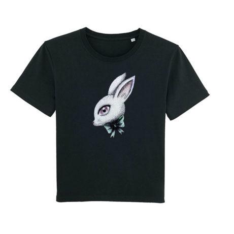 Camiseta chica Conejo negra